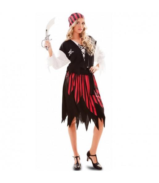 Disfarce original Pirata Aventureira mulher ao melhor preço