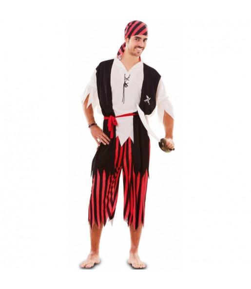 Disfarce Pirata Aventureiro adulto divertidíssimo para qualquer ocasião