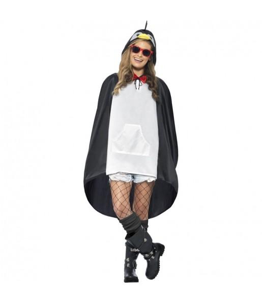 Disfarce Pinguim Poncho impermeável adulto divertidíssimo para qualquer ocasião