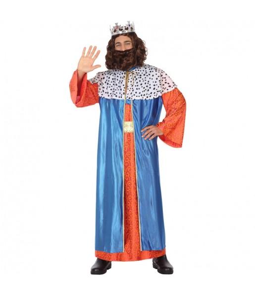 Disfarce Rei Mago Balthazar adulto divertidíssimo para Natal