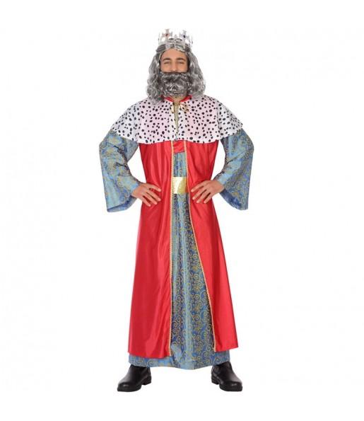 Disfarce Rei Mago Gaspar adulto divertidíssimo para Natal