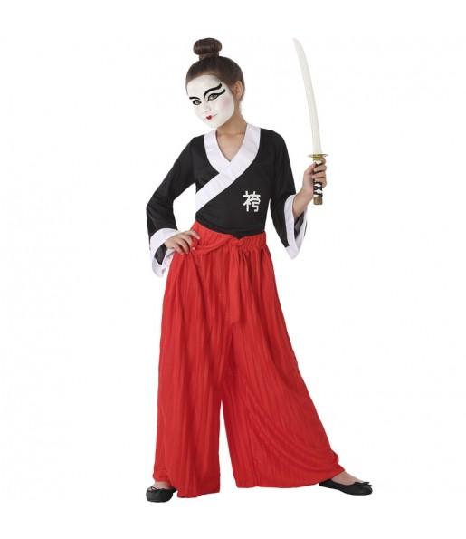Disfarce Samurai menina para que eles sejam com quem sempre sonharam