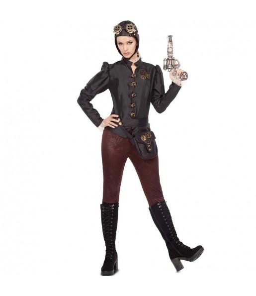 Disfarce original Aviadora Steampunk mulher ao melhor preço
