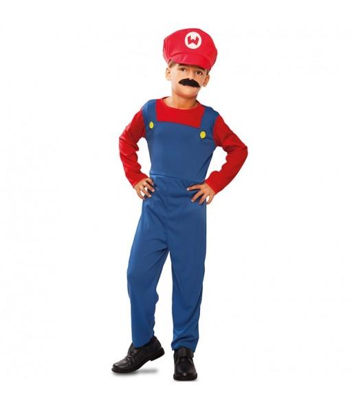 Disfarce Encanador Mario menino para deixar voar a sua imaginação
