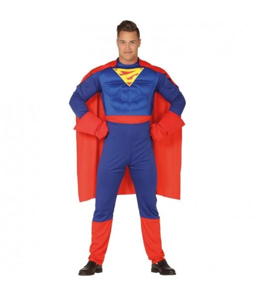 Disfarce Superman Clark adulto divertidíssimo para qualquer ocasião
