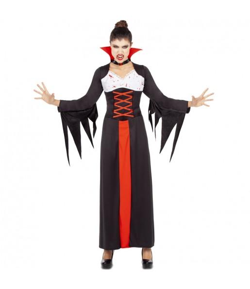 Fato de Vampiresa sangrenta mulher para a noite de Halloween