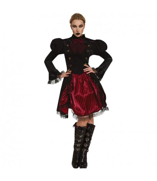 Fato de Vampiresa Steampunk para mulher