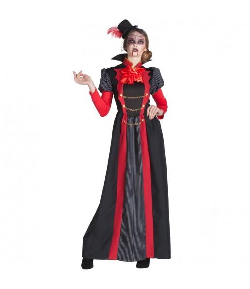 Fato de Vampiresa Vitoriana mulher para a noite de Halloween