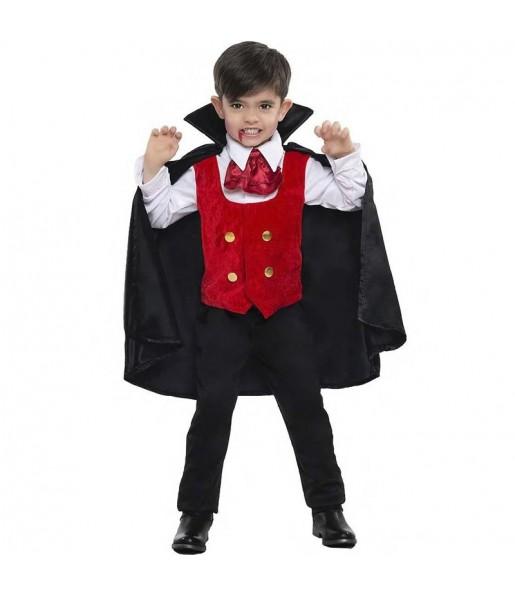 Fato de Vampiro das trevas para menino