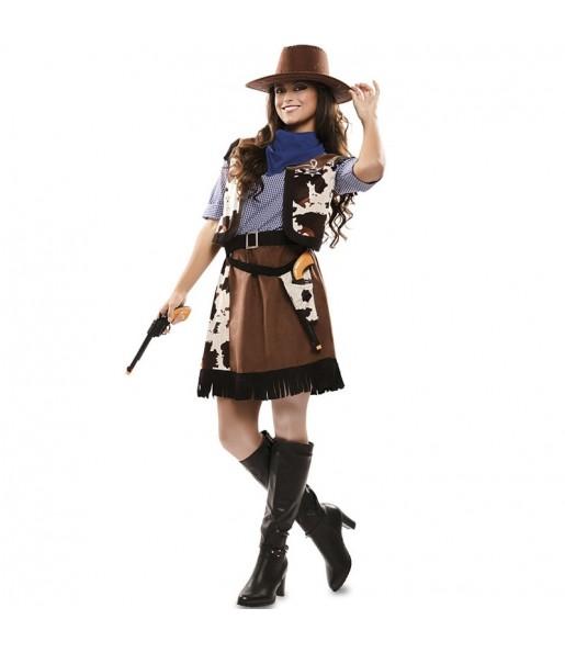 Fato de Cowgirl Pistoleira para mulher