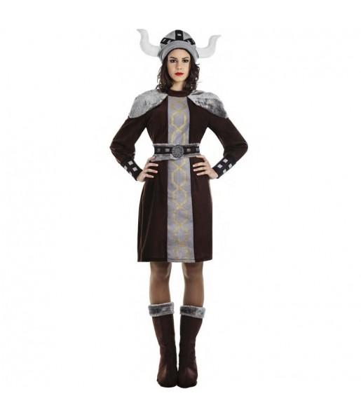 Fato de Viking selvagem para mulher