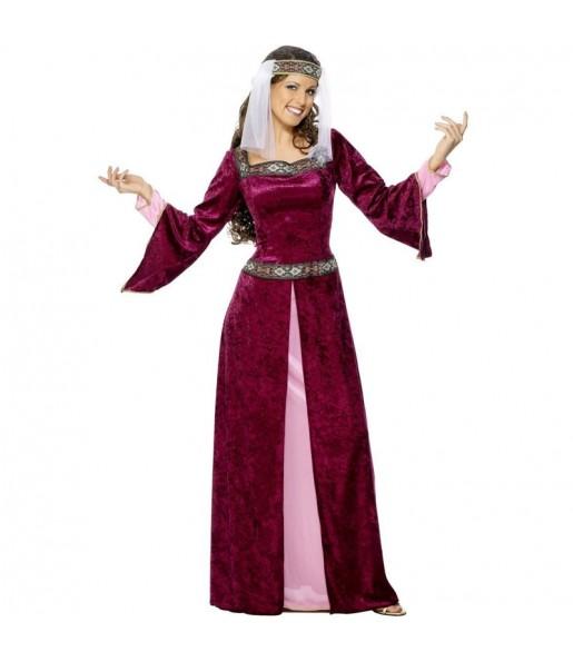 Disfarce original Princesa Medieval Lady Marian mulher ao melhor preço
