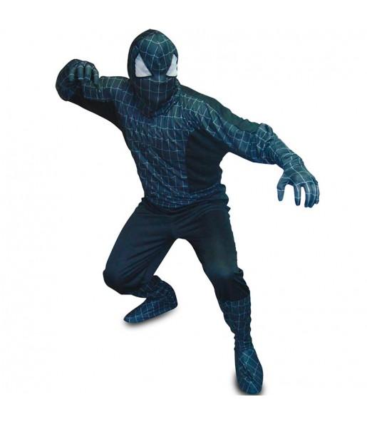 Disfarce Spiderman preto adulto divertidíssimo para qualquer ocasião