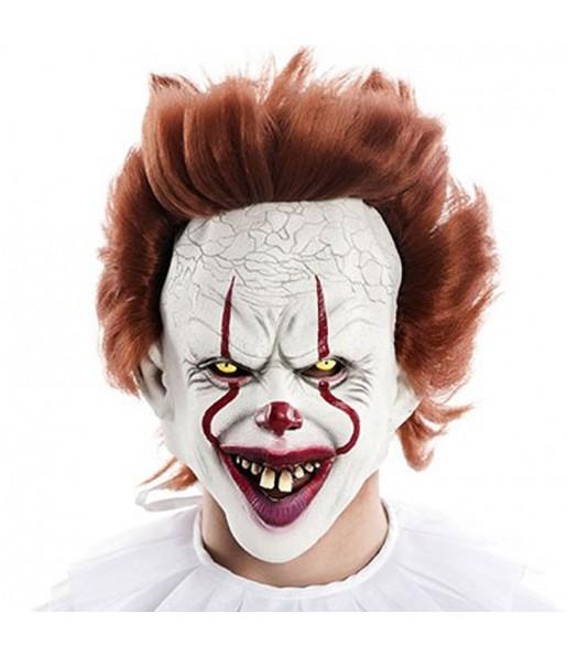 Máscara palhaço IT para completar o seu fato Halloween e Carnaval