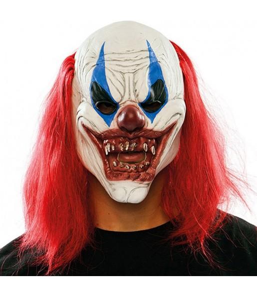 Máscara Palhaço Sedento de Sangue para completar o seu fato Halloween e Carnaval