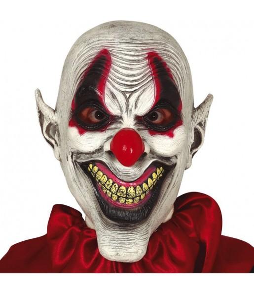 Máscara palhaço sarcástico para completar o seu fato Halloween e Carnaval