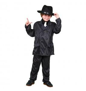 Disfarce Gangster mafioso menino para deixar voar a sua imagina??o