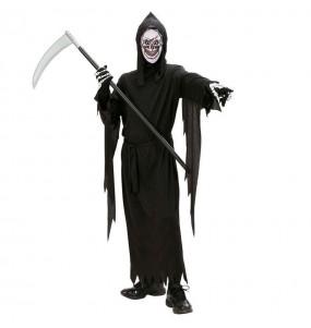 Disfarce Halloween Anjo da morte para meninos para uma festa do terror