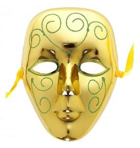 Máscara Veneza Ouro para completar o seu fato Halloween e Carnaval