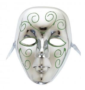Máscara Veneza Prata para completar o seu fato Halloween e Carnaval