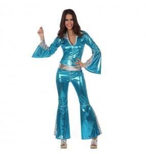 Disfarce original Disco Azul mulher ao melhor preço