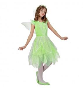Disfarce fada verde menina para que eles sejam com quem sempre sonharam