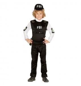 Disfarce Polícia FBI menino para deixar voar a sua imaginação