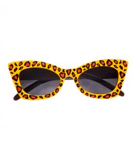 Os óculos mais engraçados Rockabilly Leopard para festas de fantasia