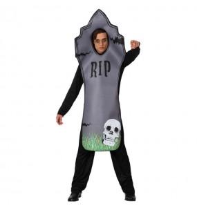 Fato de Lápide adulto para a noite de Halloween