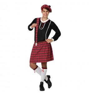 Disfarce Escocês Kilt adulto divertidíssimo para qualquer ocasião