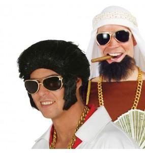 Os óculos mais engraçados King of Rock para festas de fantasia