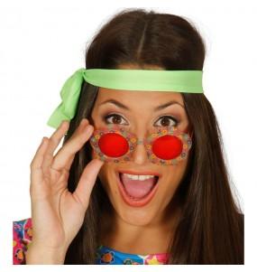 Os óculos mais engraçados flor hippie para festas de fantasia