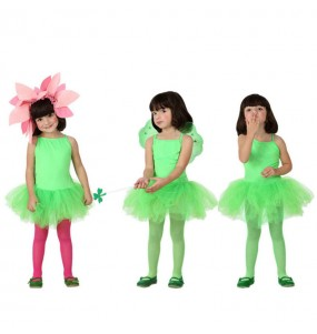 Disfarce Bailarina verde menina para que eles sejam com quem sempre sonharam