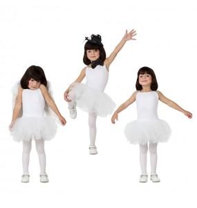 Disfarce Bailarina branca menina para que eles sejam com quem sempre sonharam