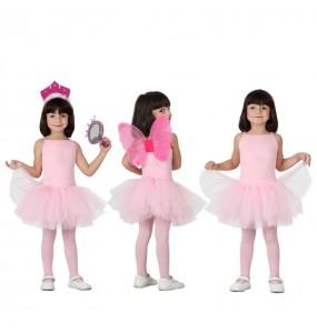 Disfarce Bailarina rosa menina para que eles sejam com quem sempre sonharam