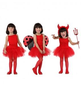 Disfarce Bailarina vermelha menina para que eles sejam com quem sempre sonharam
