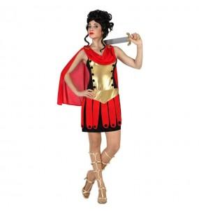 Disfarce original Guerreira Romana Dourada mulher ao melhor preço