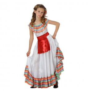 Disfarce Mexicana Multicolor menina para que eles sejam com quem sempre sonharam