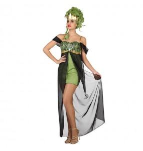 Disfarce original Deusa Grega verde mulher ao melhor preço