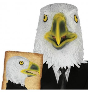 Máscara águia para completar o seu fato Halloween e Carnaval