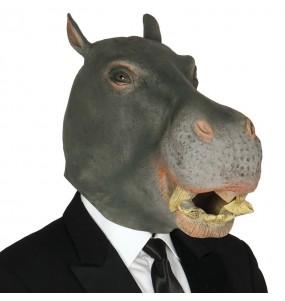 Máscara hipopótamo para completar o seu fato Halloween e Carnaval