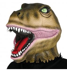 Máscara dinossauro para completar o seu fato Halloween e Carnaval