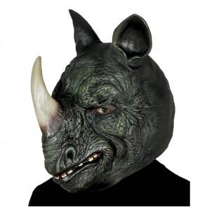 Máscara rinoceronte para completar o seu fato Halloween e Carnaval