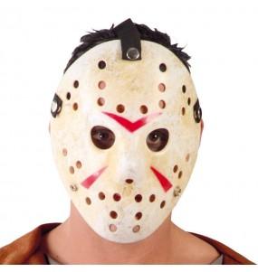 Máscara hóquei de terror para completar o seu fato Halloween e Carnaval