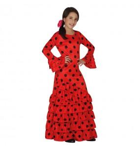 Disfarce Flamenco vermelho menina para que eles sejam com quem sempre sonharam