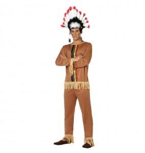 Disfarce Índio Colorido adulto divertidíssimo para qualquer ocasião