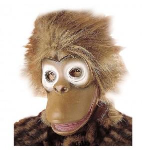Máscara macaco chimpanzé para completar o seu fato Halloween e Carnaval