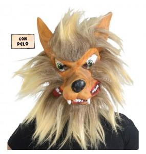Máscara lobo para completar o seu fato Halloween e Carnaval
