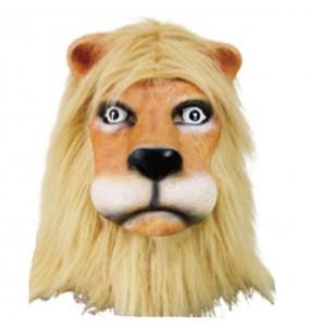 Máscara leão com pêlo para completar o seu fato Halloween e Carnaval