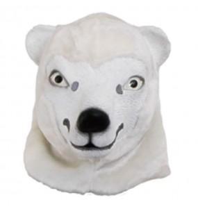 Máscara Urso Polar para completar o seu fato Halloween e Carnaval